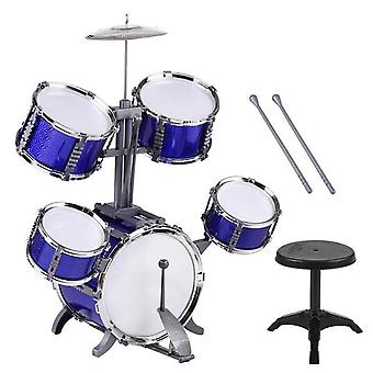 Kinderen kids jazz drum set kit musical instrument educatief speelgoed 5 drums and one symbal design percussion instrument
