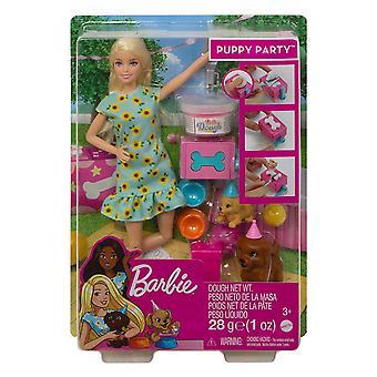 Barbie valp fest dukke og lekesett