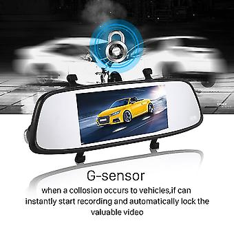 "Blackview 7"" Ips Front View 1080p Rearview Vga G-sensor Car Driving Recorder"