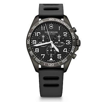 Victorinox Swiss Army 241926.1 Fieldforce Sport Black Rubber Chronograph Watch
