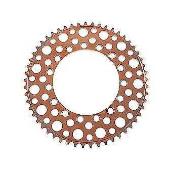 Bicicleta dobrável 53T Moto de corrente moto negativa dentes único chainring (Rose Gold)