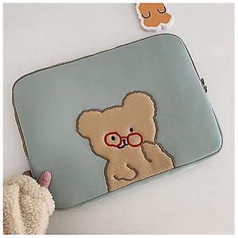 Laptop case tas voor cartoon bril beer ipad pro tablet mouw inch laptop binnentas| Schoonheidsmiddel