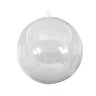 Yksi 120mm kaksiosainen läpinäkyvä muovi ylöspäin päin leikattu pallo