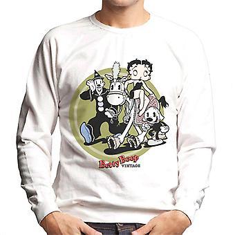 Betty Boop Vintage Circus Crew Men's Sweatshirt
