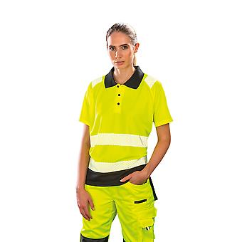 Result Genuine Recycled Womens/Ladies Safety Polo Shirt