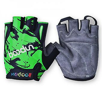 Boys' And Girls' Gloves Breathable And Anti-skid Half Finger Children's Riding Gloves In Summer
