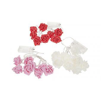 PMS batteridriven tändning Eva Rose Flower LED-lampor olika