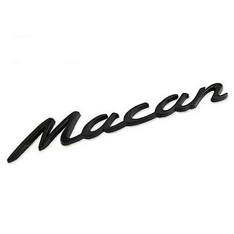 Emblema de la insignia Porsche Macan Black para el maletero trasero
