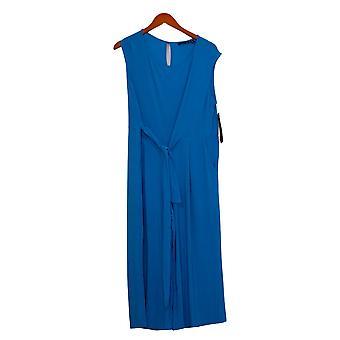 نينا ليونارد Jumpsuits معجزة ماتي جيرسي Culotte الأزرق قطعة واحدة 663672