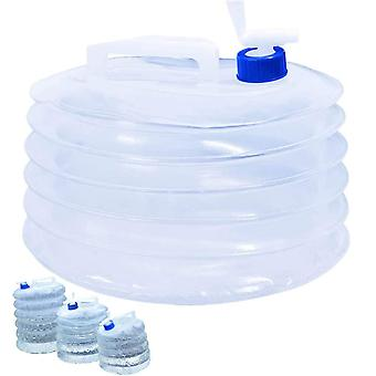 5l Camping Hiking Collapsible Water Storage, Pack Of 2