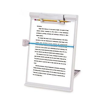 Muovi säädettävä tietokone asiakirjanpidike kirjateline jalusta luku kehys bookends
