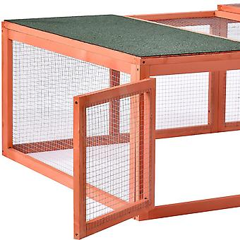 Outdoor Bunny Rabbit Hutch Tortoise House For Small Animals With Run Spacious