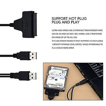 Usb2.0 To Sata 22pin Cable For 2.5inch Hdd Hard Drive Solid State Drive