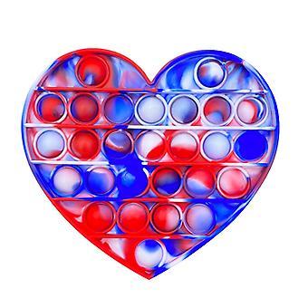 Heart Shape Push Bubble Fidget Jouet sensoriel