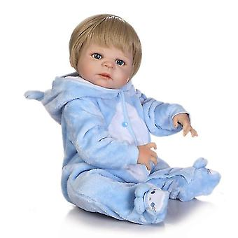 "Reborn Baby Puppen Docka Mjukt Silikon 22 ""/ 55cm Lebensechte Neugeborene Puppe Mädchen Geschenk"