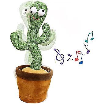 Kaktus plysch leksaker elektrisk dans kaktus sjungande barn leksaker