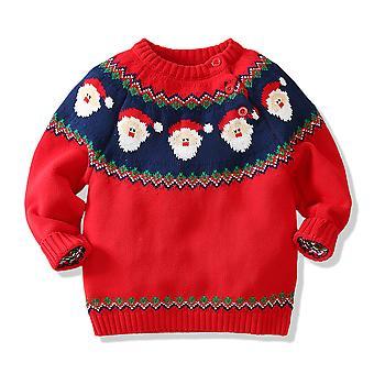 Tricoul de Craciun Xmas Jumper Kids Cute Cu maneca lunga din bumbac pulover Topuri