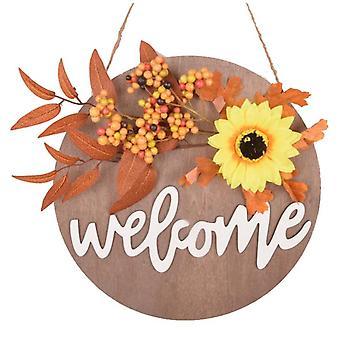 Halloween Thanksgiving Welcome Wreath Decoration