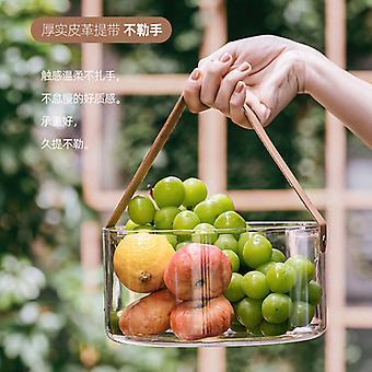 Plastic Basket Transparent Fruit Basket Large Capacity Ice Bucket Vase Table Top Garbage Can Champagne Bucket Ice Bucket
