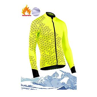 Winter Warm And Comfortable 2021 New Patterns Men Holding Warm Cycling Jersey Set Geometric Figure Cycling Clothes