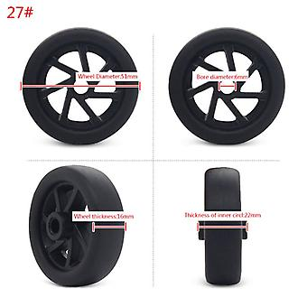1pc Plastic Swivel Wheels Rotation Suitcase Replacement Casters Luggage Case Parts Accessories