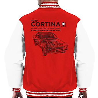 Haynes Owners Workshop Manual Ford Cortina Black Men's Varsity Jacket