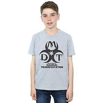 Harry Potter los niños Departamento de transporte mágico Logo t-shirt