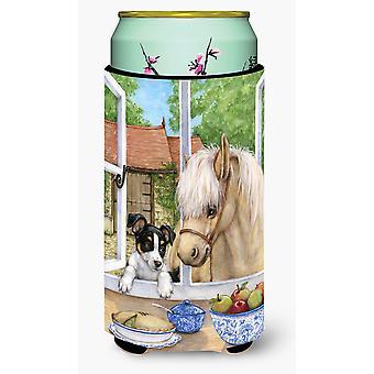 Щенка Джек Рассел и жеребенок лошадь Талль Boy напитки изолятор Hugger
