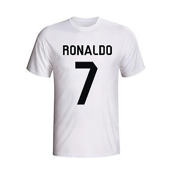 T-shirt Cristiano Ronaldo del Real Madrid Hero (bianco)