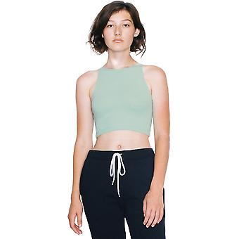 American Apparel donna/Womens cotone Spandex senza maniche Crop Top