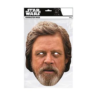 Luke Skywalker Star Wars The Last Jedi  Single 2D Card Party Fancy Dress Mask
