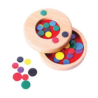 Bigjigs Toys Traditional Wooden Tiddly Winks Game Play Set