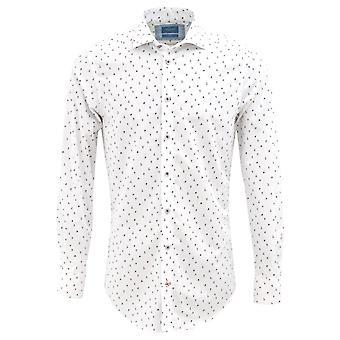Tresanti White Skieers Print Mens Shirt