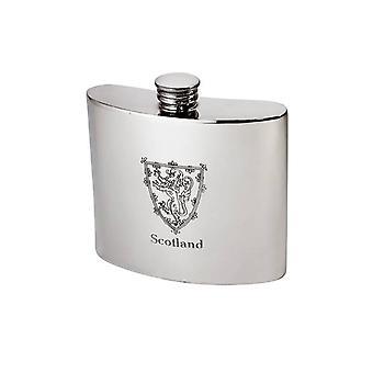 Lion standard d'Écosse en relief étain flacon - 6oz