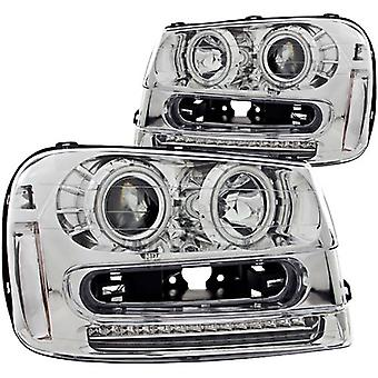 Anzo USA 111131 Chevrolet Trailblazer Chrome Projectors w/Halos Headlight Assembly - (Sold in Pairs)