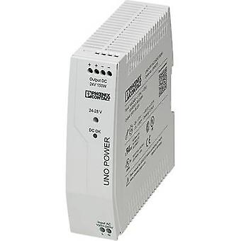 فينيكس الاتصال UNO-PS/1AC/24DC/150W السكك الحديدية التي شنت PSU (DIN) 24 V DC 6.25 A 150 W 1 x