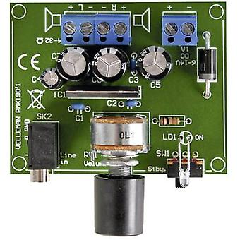Velleman MK190 Amplifier Assembly kit 6 V DC, 9 V DC, 12 V DC