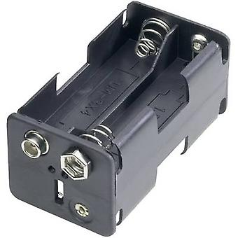 Goobay 12466 Battery tray 4x AA Stud and socket (L x W x H) 61.5 x 30 x 31.5 mm