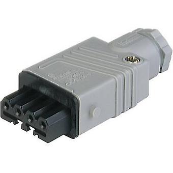 Hirschmann 931 691-106-1 Mains conector STAK Socket, número total de pinos: 5 + PE 6 A Grey 1 pc(s)