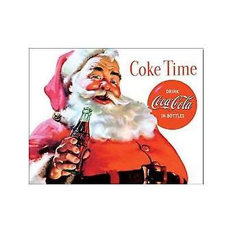 Coca Cola Santa Claus Metal Sign