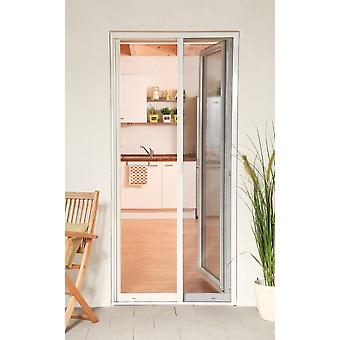 Aluminium door roller blind Kit 160 x 220 cm fly screen insect protection in white