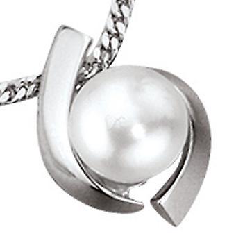 Anhänger RUBY 1 Perle weißgold 333 für Kette Halskette