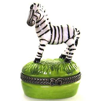 Zebra Stripes Hinged Safari Hinged Trinket Box 646