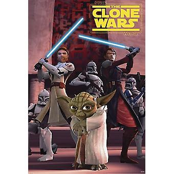 Star Wars the Clone Wars poster Group 101,5 x 68.5 cm