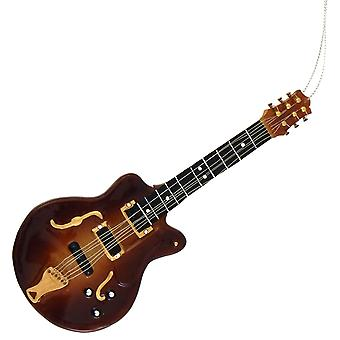 Christmas By Krebs Electric Guitar Musical Instrument Holiday Ornament Glass