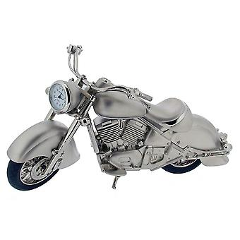 Gift Time Products Harley Style Motorbike Mini Clock - Silver/Black