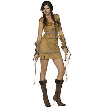 Fever Pocahontas Costume, UK Dress 12-14