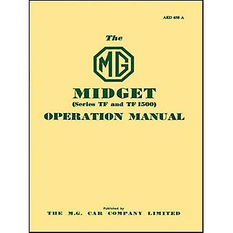 MG eigenaren Handbook: MG Midget TF & TF1500: deel nr. AKD658A: Onderdeel nr. Akm658a