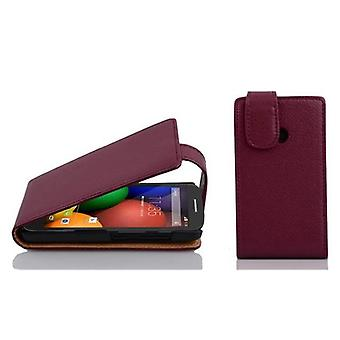 Cadorabo Case for Motorola MOTO E Case Cover - Phone Case in Flip Design in Textured Faux Leather - Case Cover Case Case Case Case Case Book Folding Style