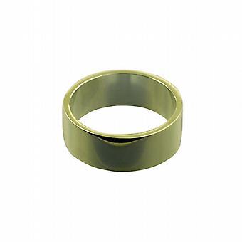 """18 قيراط الذهب 8 مم عادي شقة """"ض حجم خاتم الزواج"""""""